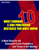 Thumbnail 10 common e-zine publishing mistakes you must avoid w/mrr