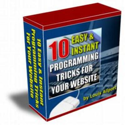 Product picture 10 Easy & instant programming tricks for your website