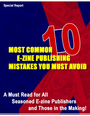 Product picture 10 common e-zine publishing mistakes you must avoid w/mrr