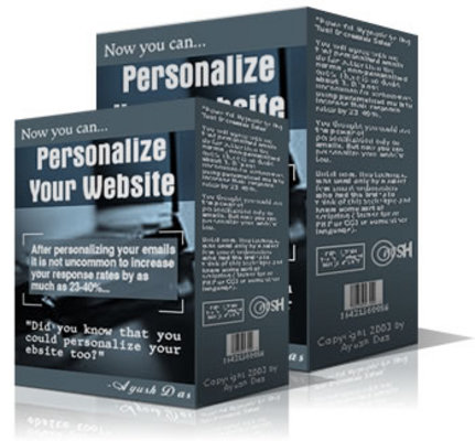Product picture Personalize Your Website